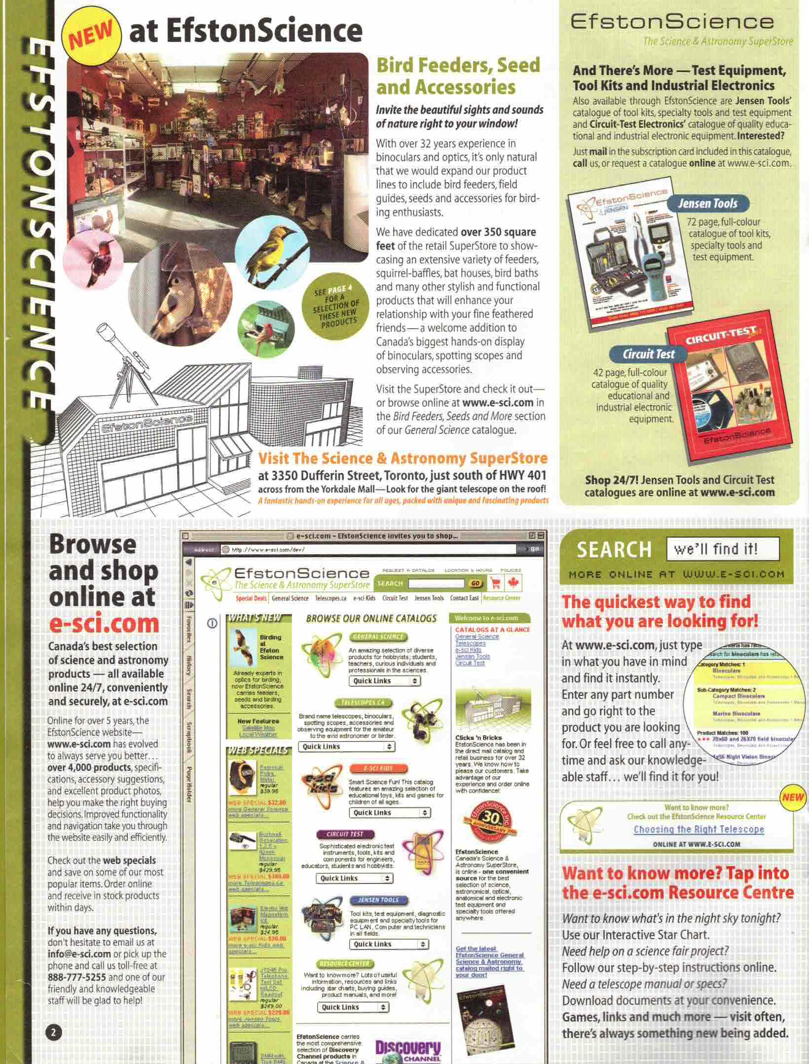 2003 ES Best of Catalogue Inside Cover